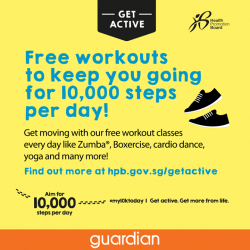 [GUARDIAN HEALTH AND BEAUTY] Guardian Singapore is proud to be a supporting partner of the Health Promotion Board's my10ktoday movement.