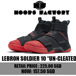 [Hoops Factory] Don't miss out on this special offer for Nike Lebron Soldier 10, only at Hoops Factory Centrepoint and Hoops