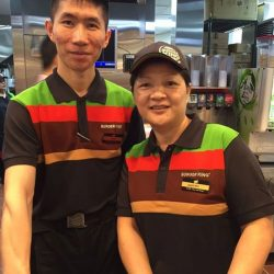 [Burger King Singapore] Stand a chance to win a $10 Burger King voucher when you catch our crew in their new uniforms!