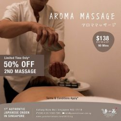 [Yunomori Onsen and Spa] With the best techniques combined from all around the world, our aroma massage therapy helps to reduce stress and relieve