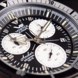 [Krasnaya - The Watch Art Gallery by Red Army Watches] Vostok Europe Anchar Chrono with a 1/20 second chronograph feature.