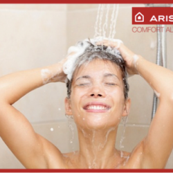 [Ariston] An important reason why you need to use hot water when washing your hair is it opens up the hair