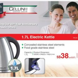 [JAPAN HOME Singapore] Don't forget about the fantastic offer we have on Cellini Italy home appliances, while stocks last.