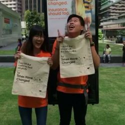 [NTUC Income Insurance] We're at Raffles Green today with a midweek pick-me-up for all you ladies!