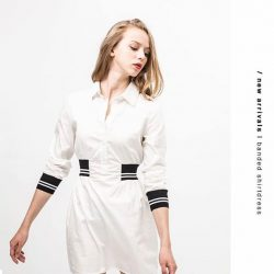 [OSMOSE Singapore] Flaunt your waistline and be hassle-free from sleeve folding with our Banded Shirtdress.