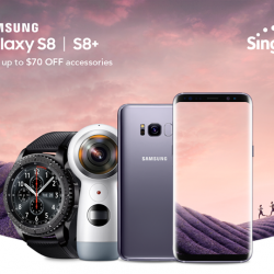 [Singtel] Save up to $70 on selected accessories upon purchase of the Samsung Galaxy S8 or S8+.