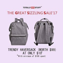 [TotallyHotStuff] The Great Sizzling Sale'17: Trendy Haversack at only $10 selling out fast!