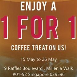 Jewel Cafe: Enjoy 1-for-1 Coffee Treat All Day at Millenia Walk!