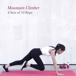 [Clarins] Burn mid-week body cellulite with this Mountain Climber move by Victoria of Crucycle.