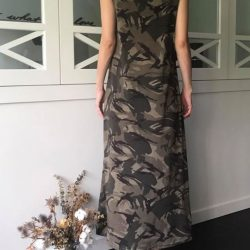 [Tagstyle] BELBIN CAMOUFLAGE MAXI DRESS ~ (Sleeved or Sleeveless) Free size
