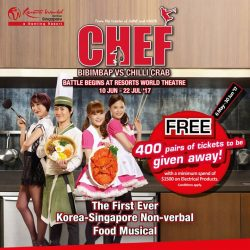 [Harvey Norman] Here is your chance to get a FREE pair of tickets to CHEF: Bimbimbap vs Chilli Crab at Resorts World
