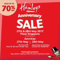 [AsterSpring Origin of Beauty] There's something for everyone to enjoy at Hamleys Singapore's Anniversary Sale, where toys are up to 70% OFF!