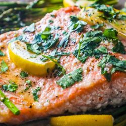 [THE SEAFOOD MARKET PLACE BY SONG FISH] Lemon Garlic Salmon and AsparagusSimple healthy and EASY!