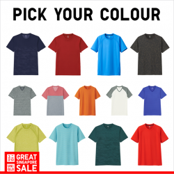 [Uniqlo Singapore] Give our fastest drying fabric a go this GSS with the Men's Dry-Ex Short Sleeve T-Shirt $14.