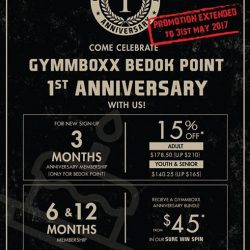 [GYMM BOXX Silver] ATTENTION❗️Due to the overwhelming response, GYMMBOXX Bedok Point Anniversary Sale will be extended to 31st May 2016!