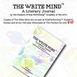 [Kids Performing™ Academy of the Arts] Happy to share here, our very first Literary Arts journal to be published by Kids Performing 😎 - We came up with