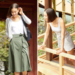 [Uniqlo Singapore] Dresses and tops with in-built bras allow you to put outfits together quickly and easily in the mornings.