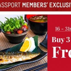[Otaru Suisan] Enjoy 4th Dinner Set for Free for J Passport members from 16 - 31 May!