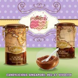 [Candylicious] Bake with love with Caffarel (from Italy) refined tin containing high quality cocoa powder ensure a fun and delicious dessert