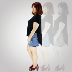 [LOVFLAUNT] Get absolutely comfortable yet fashionable with this Black Hi-Low Top – the perfect piece that should be in every girl'