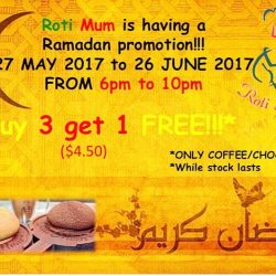 [ROTI MUM] We are having a Ramadan promotion for all our customers from 27 May 2017 to 26 June 2017.