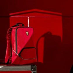 [Ferrari Store] Ferrari Colour block sports backpack Practical heavy-duty technical fabric backpack with a sleek design and large front pocket.