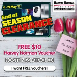 [Harvey Norman] Let HarveyNormanSG help you with your MothersDay shopping with free $10 Harvey Norman voucher - no strings attached!