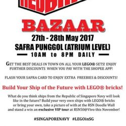 [My Little Brick Shop] Little Red Brick Bazaar powered by Shopee happening this weekend at Punggol SAFRA, and that Snowspeeder at 25% off looks