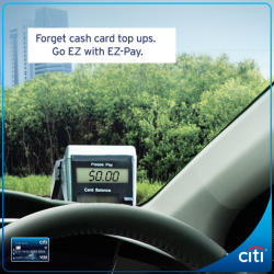 [Citibank ATM] For a limited time, drive through 10 ERP gantries for FREE and get S$20 Shell eCoupon* on your first