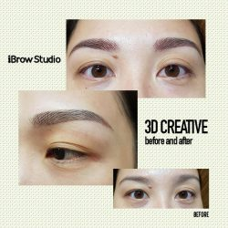 [iBrow Studio] Get 3D Creative Eyebrows done today, it makes you stand out and the best part of it is being hassled