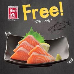 [Watami] Our free Salmon Sashimi Promotion (with a minimum spending of $35), exclusively at Watami @ Causeway Point will be ending this