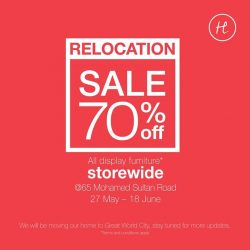 [HomesToLife] RELOCATION SALE70% off all display furniture*Only @ 65 Mohamed Sultan Road.