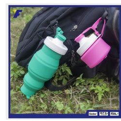 [JAPAN HOME Singapore] Silicone Collapsible Water Bottle- UNBREAKABLE -Made of soft silicone.