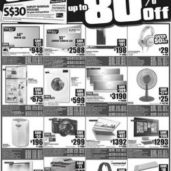 [Harvey Norman] Enjoy up to 80% off at HarveyNormanSG's End of Season Clearance!