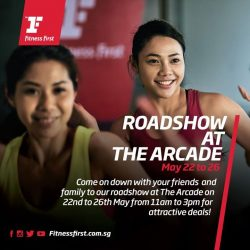 [Fitness First] ROADSHOW AT THE ARCADE: Need a fitness buddy?