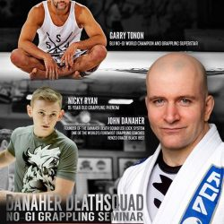 [EVOLVE MMA] SAVE THE DATE: The Danaher Death Squad is coming to Evolve MMA to teach a no-gi grappling seminar on