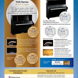 [YAMAHA MUSIC SQUARE] Don't you think this is the best time to get yourself an acoustic piano?