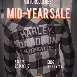 [Harley-Davidson] Our threads mid-year sale starts tomorrow folks.