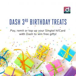 [Singtel] Singtel Dash celebrates its 3rd birthday!