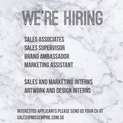 [Miss Empire] We are expanding and we wanna hire you!