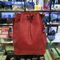[Luxury City] Preloved louisvuitton Red Leather Busket Bag☎️ :+6567020082 WhatsApp :+6581814221 Follow us on FB:www.