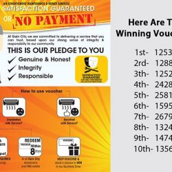 """[Gain City] We have a 50"""" TV and various tablets up for grabs for the Satisfaction Guaranteed Or No Payment Contest and"""