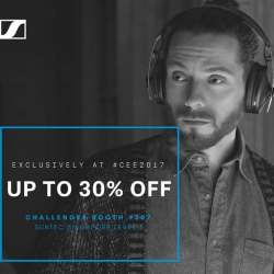 [Sennheiser] Get up to 30% OFF Sennheiser models at Challenger Singapore's CEE2017 booth!