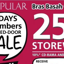 POPULAR: 2 Days Members Closed-Door Sale with 25% OFF Storewide