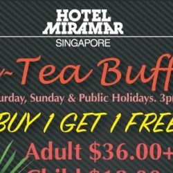 Hotel Miramar: 1-for-1 Weekend Hi-Tea Buffet