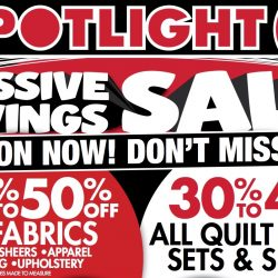 Spotlight: Massive Savings Sale Up to 50% OFF Fabrics, Quilt Cover Sets & Sheets, Pillows, Curtains & More!