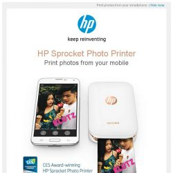 [HP Singapore]  HP Sprocket printer - Enjoy printing photos from your smartphone