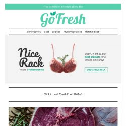 [GoFresh] GoFresh Promo: 7% off all meat products happening in store now