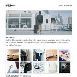[Muji] MUJI to GO Travel Series - Limited Offer