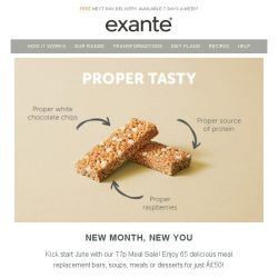 [Exante Diet] New Month, New You - 77p Meal Sale!